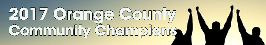 Orange County Community Champions 2017 banner